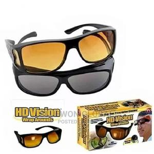 Hd Vision Day Night Wrap Around Glasses - Set of 2 | Safetywear & Equipment for sale in Lagos State, Ikeja