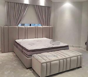 Quality 6 by 6 Bedfame With Drawers and Ottoman | Furniture for sale in Abuja (FCT) State, Wuse
