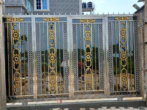 Stainless Steel Gold and Black Design Gate | Doors for sale in Lagos State, Ajah