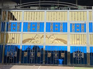 Stainless Steel Gold and Blue Design Gate | Doors for sale in Lagos State, Ikorodu