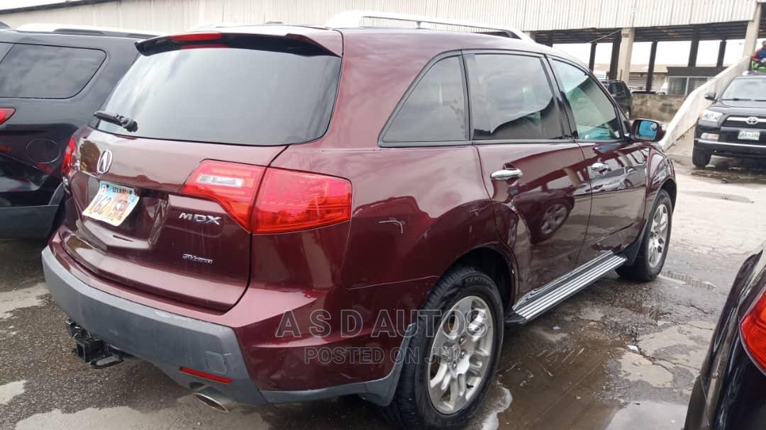 Acura MDX 2008 SUV 4dr AWD (3.7 6cyl 5A) Red   Cars for sale in Amuwo-Odofin, Lagos State, Nigeria