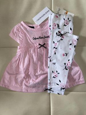 Calvin Klein Baby Girl Top and Pant Set | Children's Clothing for sale in Lagos State, Ajah