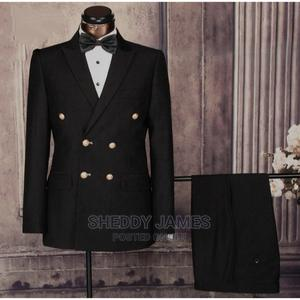 Black Double Breasted Suit   Clothing for sale in Abuja (FCT) State, Gwarinpa