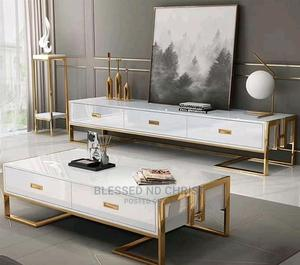Classic Quality Modern Designed TV Stands With Centre Table   Furniture for sale in Lagos State, Ojo