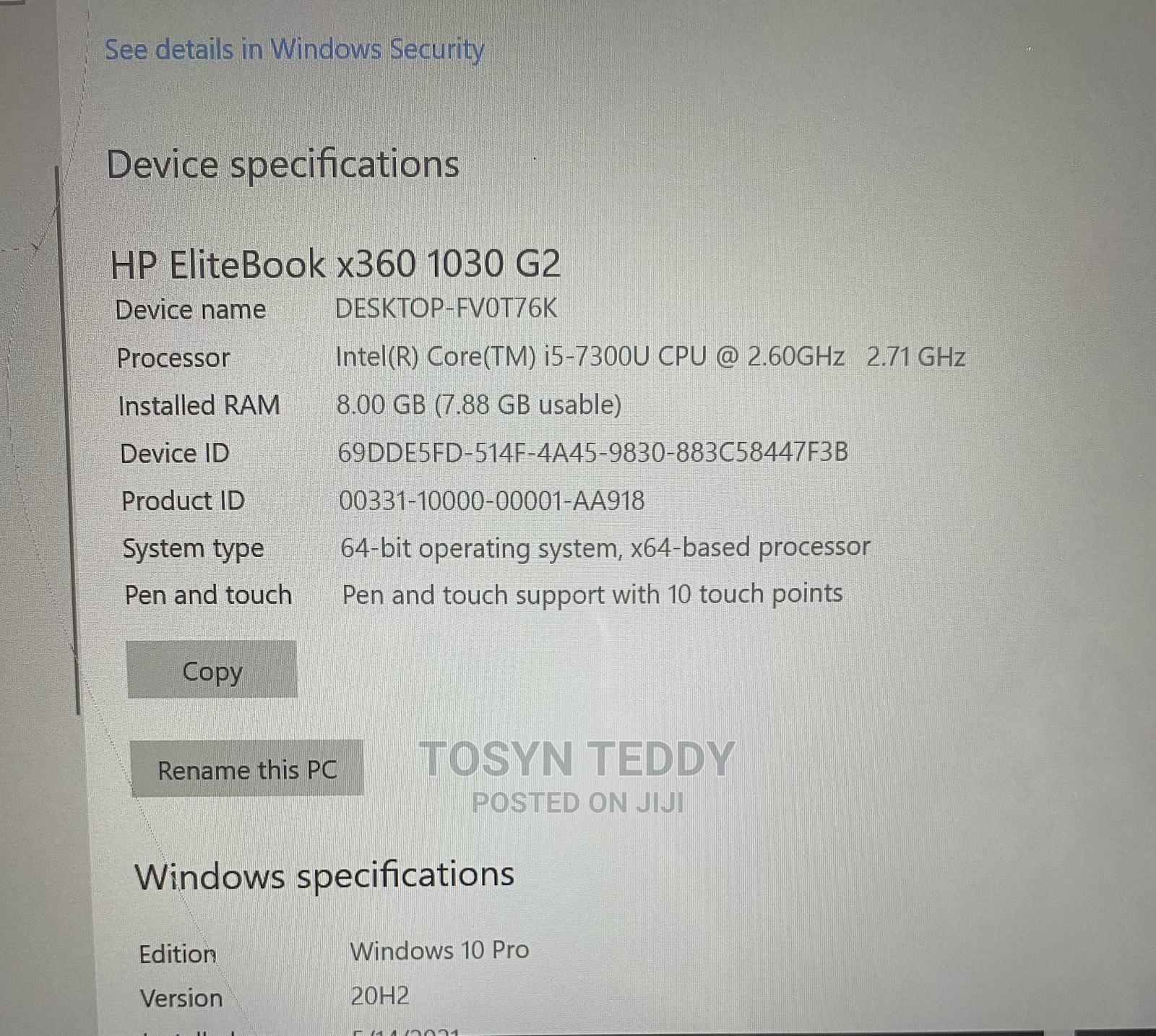 Archive: Laptop HP EliteBook 1030 G1 8GB Intel Core i5 256GB
