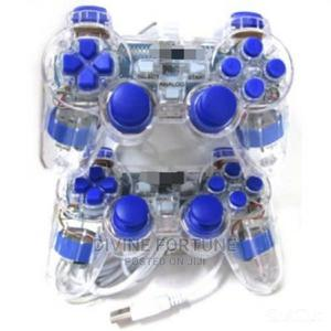 Transparent USB Dual Vibration Game Controller Pad for PC   Computer Accessories  for sale in Lagos State, Ikeja