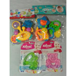 Teether 2 in 1 + 2 Different Sets of Rattle of 6   Toys for sale in Lagos State, Surulere