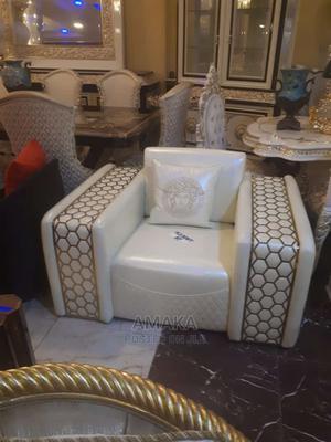 Italian Leather Sofa Chair | Furniture for sale in Lagos State, Tarkwa Bay Island