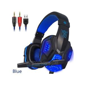 Game Wired Headphones With Mic LED Light for Computer PC PS4 | Headphones for sale in Lagos State, Victoria Island