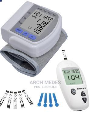 Digital Blood Pressure Monitor + Blood Suger Meter Lancet | Medical Supplies & Equipment for sale in Lagos State, Alimosho