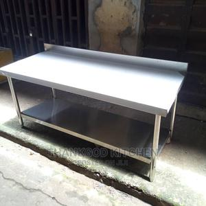 Stainless Steel Working Table With Back 5ft | Kitchen Appliances for sale in Lagos State, Ajah