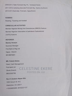Customer Service CV | Mining Industry CVs for sale in Akwa Ibom State, Nsit Atai
