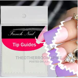 Manicure Edge Tip Guide Nail Art Sticker Acrylic Polygel | Makeup for sale in Lagos State, Yaba