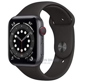 Iwatch Series 6 44mm Gps + Cell Black   Smart Watches & Trackers for sale in Lagos State, Ikeja