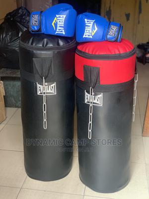 Boxing Glove With Punching Bag | Sports Equipment for sale in Lagos State, Surulere