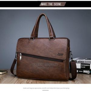 """Jeep Unisex Laptop Briefcase Bag - Chocolate Brown - 14""""   Bags for sale in Lagos State, Ikeja"""