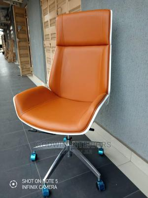 Brown Leather Sofa Office Chair   Furniture for sale in Lagos State, Ojo