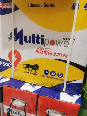 12v 220ah Multipower Heavy Duty Inverter Battery.   Solar Energy for sale in Lagos State, Ojo