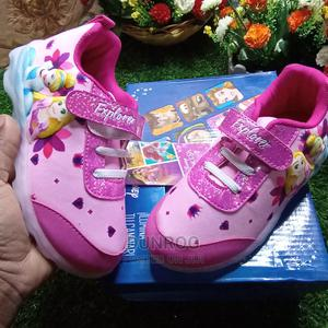 Girls Pink Disney Led Light Canvas   Children's Shoes for sale in Lagos State, Ikeja