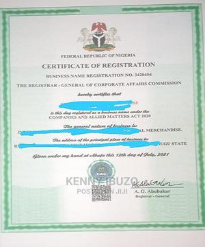 Business Name Registration and Company Registration   Legal Services for sale in Enugu State, Enugu