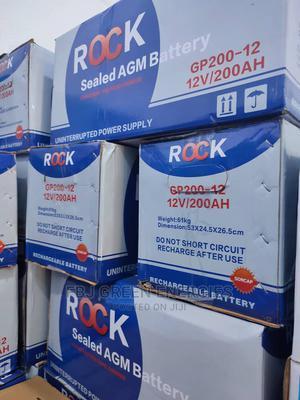 ROCK 12V 200ah Deep Cycle Inverter Battery   Solar Energy for sale in Oyo State, Ibadan