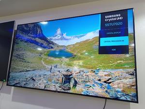 Samsung Tu7020 Crystal Uhd 4K Hdr Smart TV 55inchs | TV & DVD Equipment for sale in Lagos State, Ojo