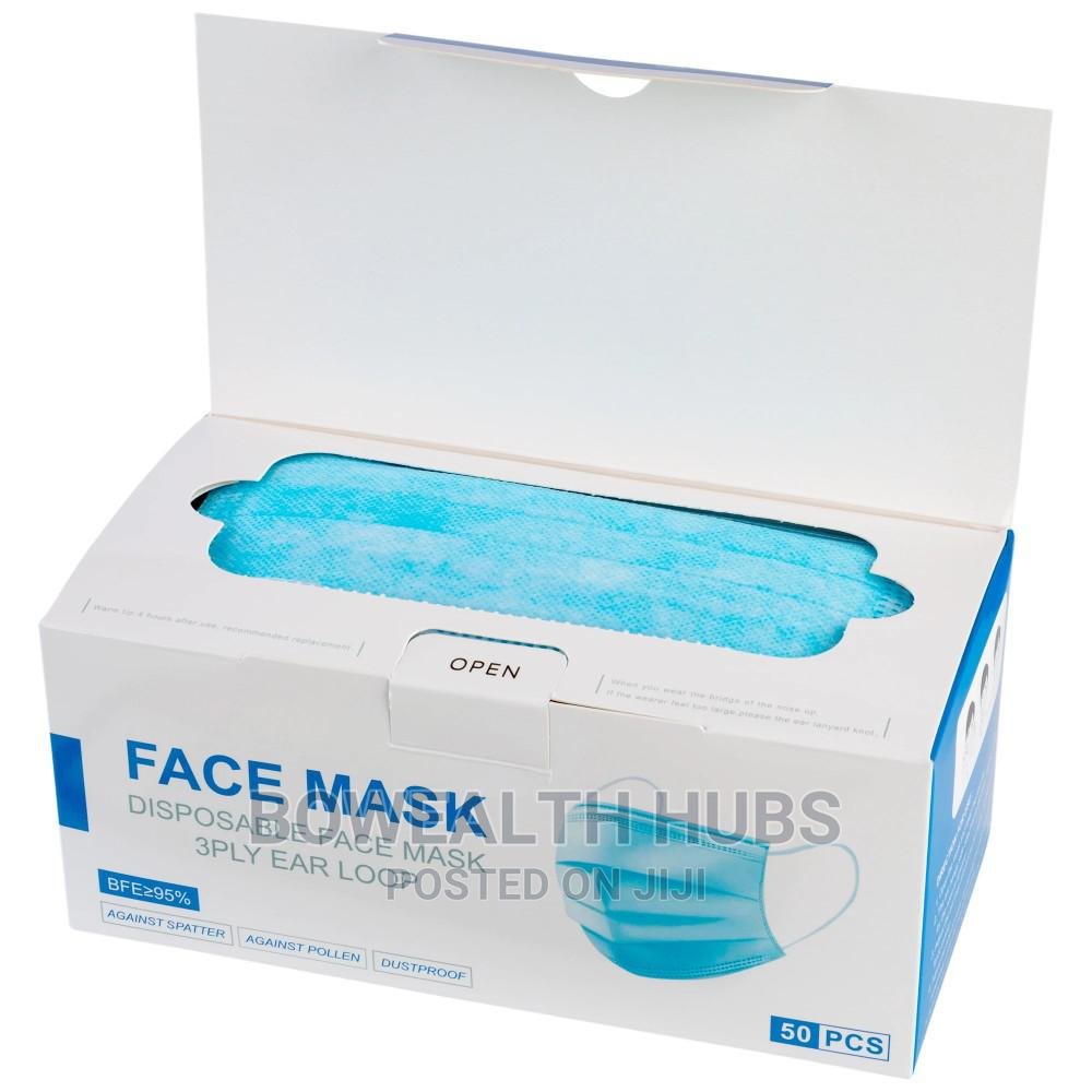 3 Ply Disposable Surgical Face Mask - Carton   Medical Supplies & Equipment for sale in Ikeja, Lagos State, Nigeria