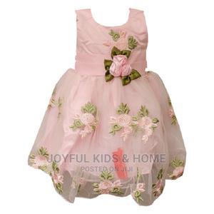 Full Sleeveless Ball Party Dress-Pink | Children's Clothing for sale in Lagos State, Ojota