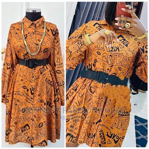 New Trendy Female Quality Shirt Gown With Belt | Clothing for sale in Lagos State, Ikeja
