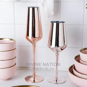 Wine Glasses, Stainless Steel Silver/Rose Gold/Golden | Kitchen & Dining for sale in Lagos State, Lagos Island (Eko)