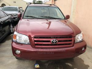 Toyota Highlander 2005 Red | Cars for sale in Lagos State, Ikeja