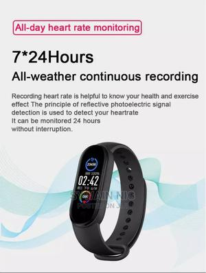 M5 Smart Band Men Women Watch Heart Rate Blood Pressure | Smart Watches & Trackers for sale in Lagos State, Agege