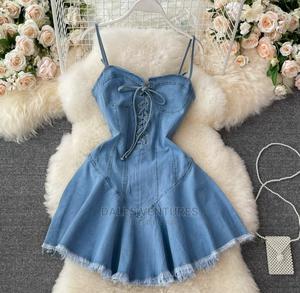 Luxury Brand. Denim Skater Dress. Topnotch Quality Zone | Clothing for sale in Lagos State, Lekki