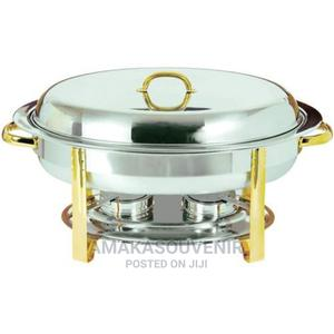 Stainless Steel Gold Accented Oval Chafer 6qt | Restaurant & Catering Equipment for sale in Lagos State, Lagos Island (Eko)