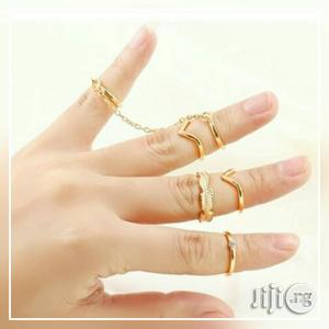 6 Pieces Set Gold Plated Hot Knuckle Rings | Jewelry for sale in Lagos State, Surulere