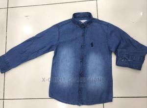 US. Polo Assn. Boys Jean Shirt | Children's Clothing for sale in Lagos State, Surulere