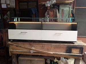 Tv Stand With Glass LED Light 5ft | Furniture for sale in Lagos State, Mushin