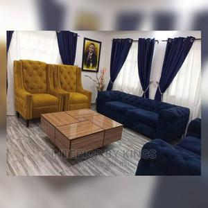 7seater Chesterfield Sofa With a Coffee Table,   Furniture for sale in Lagos State, Lekki