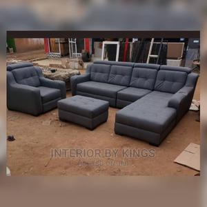 L-Shaped Sofa With One Single an Ottoman,   Furniture for sale in Lagos State, Ibeju