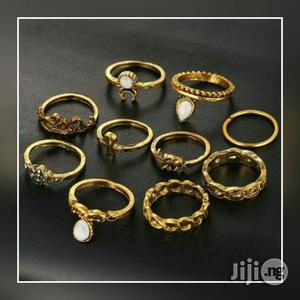10piece Knuckle Rings Set - Gold | Jewelry for sale in Lagos State, Surulere