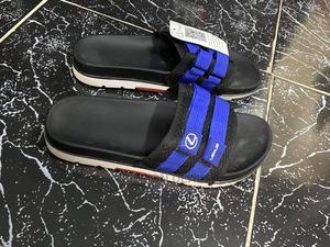Men's Black Stripe Blue Luxury Slippers | Shoes for sale in Lagos State, Ikorodu