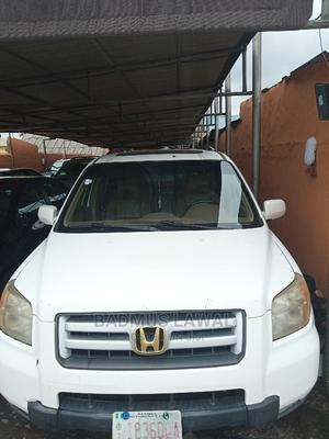 Honda Pilot 2008 EX-L 4x4 (3.5L 6cyl 5A) White | Cars for sale in Lagos State, Surulere