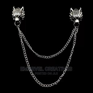 Man Suit Shirt Collar Tassel Chain Lapel Pin Brooch Dragon | Jewelry for sale in Lagos State, Surulere