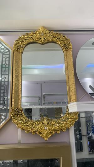 Golden Frame Design Plain Mirror | Home Accessories for sale in Benue State, Ado