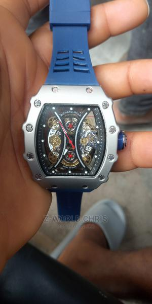 Richard Mille Blue Rubber Strap Wristwatch   Watches for sale in Lagos State, Surulere