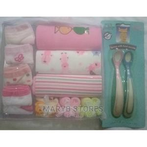 3 Bodysuits + 4 Socks + 3 Mouth Cloth + Heat Sensors Spoon | Children's Clothing for sale in Lagos State, Surulere