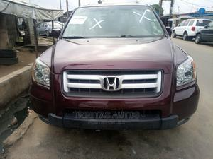 Honda Pilot 2008 EX-L 4x4 (3.5L 6cyl 5A) Red | Cars for sale in Lagos State, Surulere