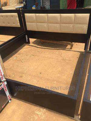6/6 Padded Leather Bed Frame   Furniture for sale in Lagos State, Alimosho