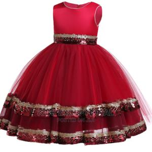 Wine Red Ball Gown | Children's Clothing for sale in Lagos State, Surulere