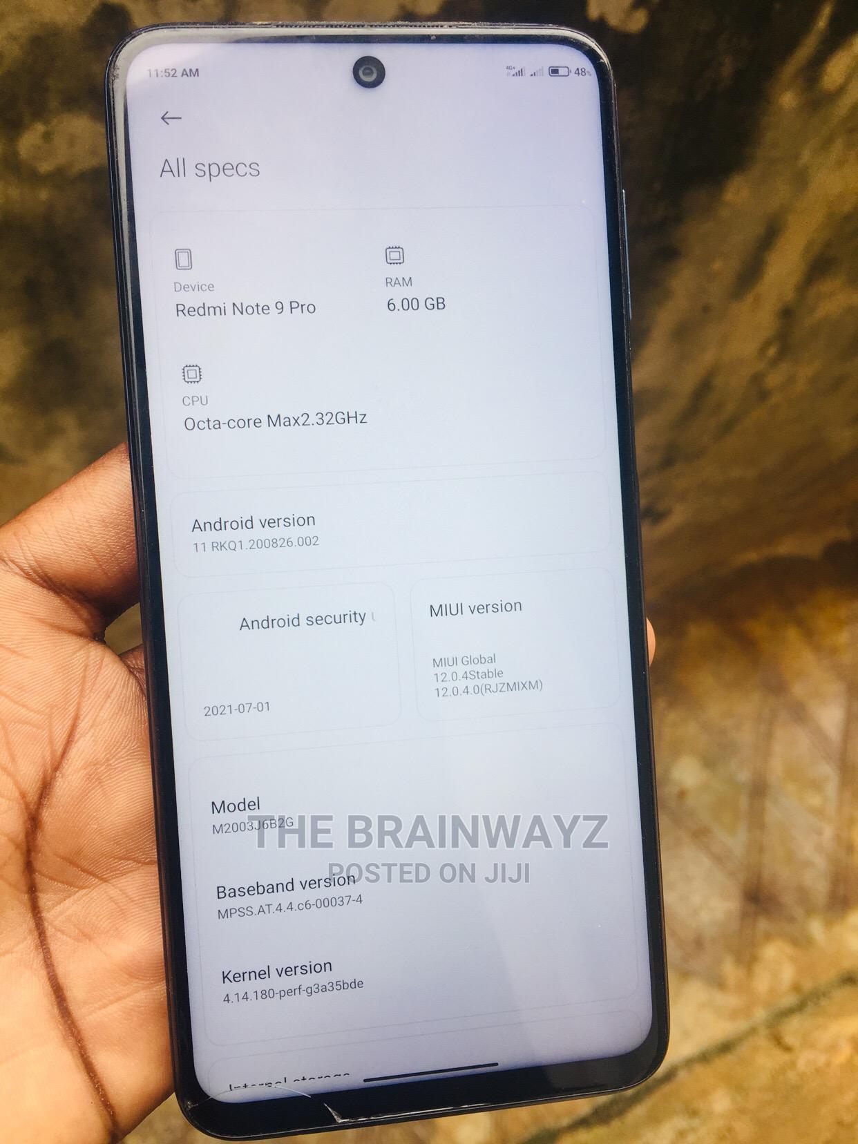 Xiaomi Redmi Note 9 Pro 64 GB Blue | Mobile Phones for sale in Benin City, Edo State, Nigeria